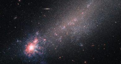 NGC 4861: una galaxia con apariencia de cometa