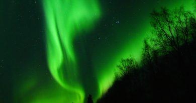 Auroras boreales desde Salla, Finlandia