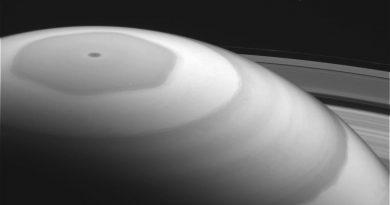 Imagen del polo norte de Saturno tomada por la sonda Cassini