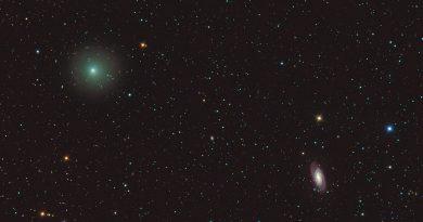 Foto del Cometa 41P/Tuttle-Giacobini-Kresak y la Galaxia NGC 2903