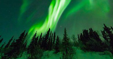 Fotografía de auroras boreales desde Alaska