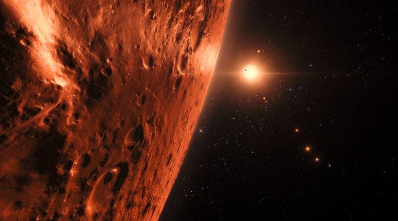 Descubren 7 exoplanetas de un tamaño similar a la Tierra orbitando una enana roja