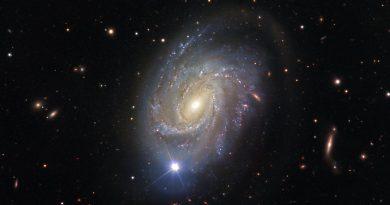 Una galaxia espiral con un pasado explosivo