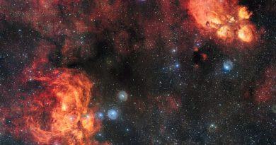 El encuentro entre la Nebulosa Langosta y la Nebulosa Pata de Gato