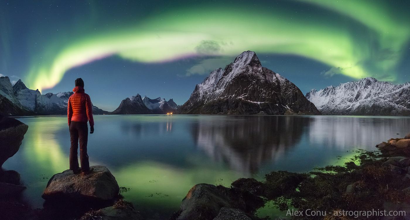 Auroras Boreales Desde Las Islas Lofoten Noruega El