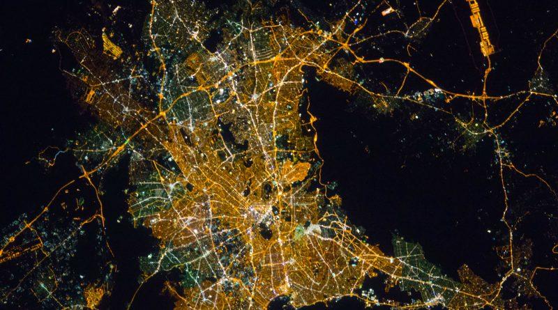 Atenas, Grecia, desde la Estación Espacial Internacional