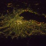 Foto de Tokio, Japón, desde la Estación Espacial Internacional