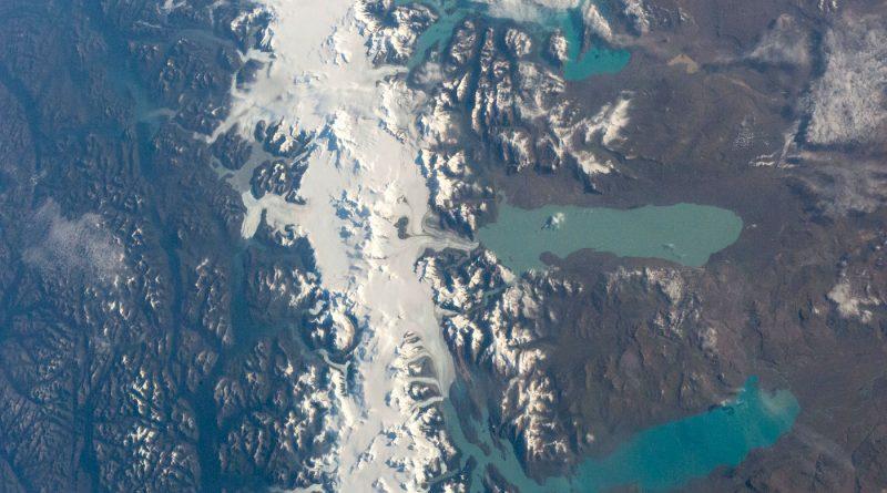 El Lago Viedma y el Lago Argentino desde la ISS