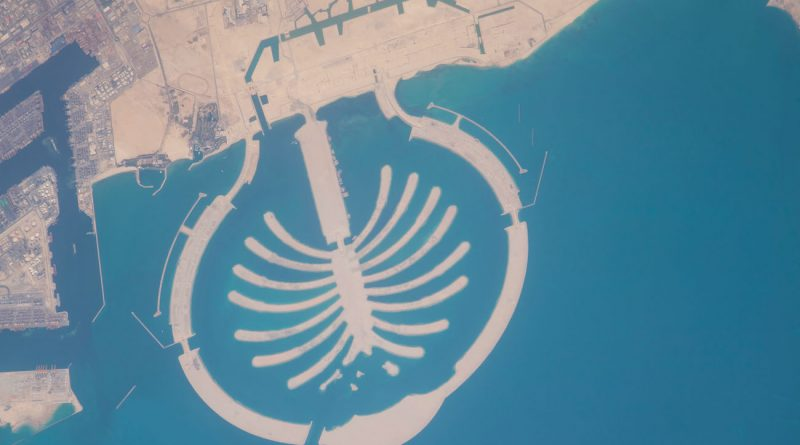 La isla artificial Palm Jebel Ali (Dubái) desde la ISS