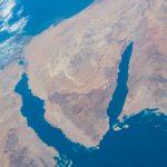 El Mar Rojo y la Península del Sinaí desde la ISS