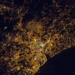 La ciudad de Oporto, Portugal, desde la ISS