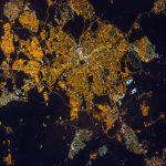 Madrid, España, desde la Estación Espacial Internacional
