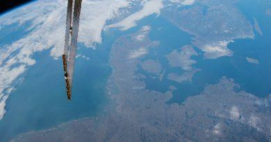 Dinamarca y el norte de Alemania desde la ISS