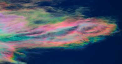 Nubes iridiscentes desde Aven, Suiza