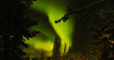 Auroras boreales desde Sodankylä, Finlandia