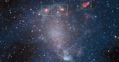 Las guarderías estelares de la galaxia de Barnard