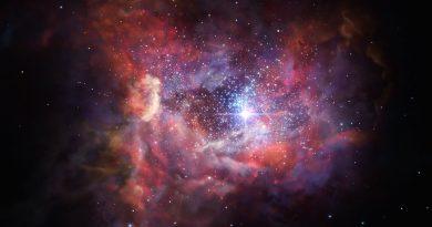 El polvo estelar de una galaxia del universo temprano