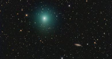 El Cometa 41P/Tuttle-Giacobini-Kresak y la Galaxia Espiral M108