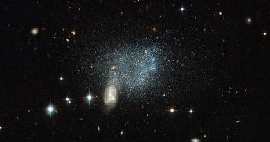 Una nube de estrellas y una colisión galáctica en la constelación del Can Mayor