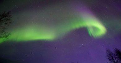 Auroras boreales desde la Laponia finlandesa