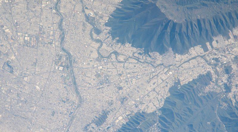 Monterrey, Nuevo León (México) desde la ISS