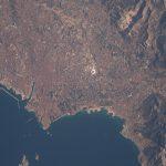 La ciudad de Marsella, Francia, desde la Estación Espacial Internacional