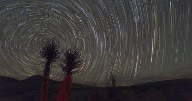 Imagen de rastro de estrellas desde Texas, Estados Unidos