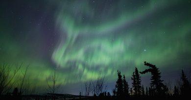 Auroras boreales desde el norte de Alaska