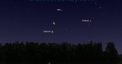 La conjunción de la Luna y Saturno será visible la madrugada del 20 de marzo