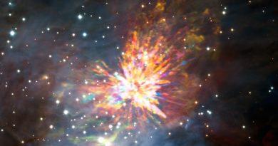 El Observatorio ALMA capta una explosión estelar en Orión
