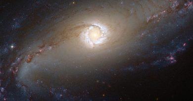 El corazón resplandeciente de la galaxia NGC 1097