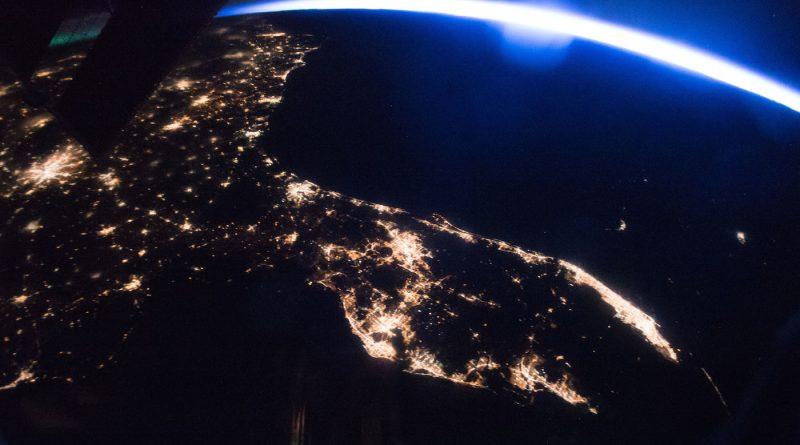 La Península de Florida y el amanecer desde la ISS