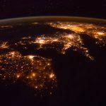 Irlanda y el Reino Unido desde la Estación Espacial Internacional