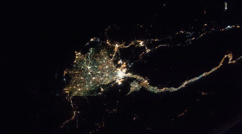 El Cairo y el río Nilo (Egipto) desde la Estación Espacial Internacional