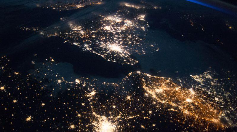 Francia, Bélgica, Países Bajos y el Reino Unido desde la ISS