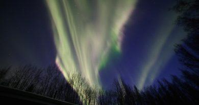 Auroras boreales desde Alaska, Estados Unidos