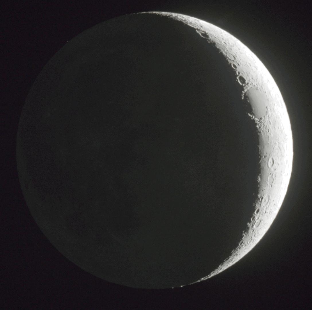 la luna creciente desde israel el universo hoy