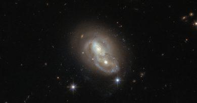 El encuentro cercano de dos galaxias en la constelación de la Liebre