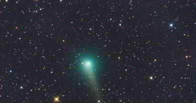 Foto del Cometa C/2015 V2 (Johnson) en la constelación de Bootes