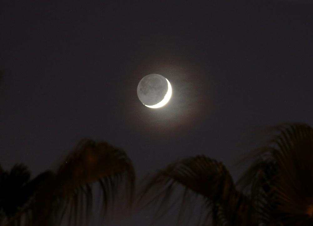 Foto de la luna creciente desde turqu a el universo hoy for Calendario lunar de hoy