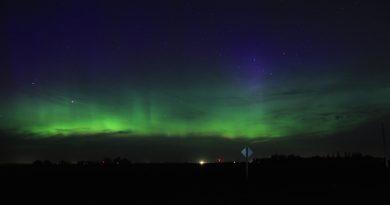 Auroras boreales desde Manitoba, Canadá