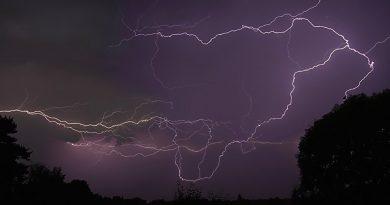 Tormenta eléctrica desde Wiltshire, Inglaterra