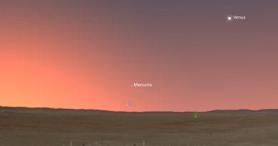 La conjunción de la Luna y Mercurio se podrá ver antes de la salida del Sol el miércoles, 24 de mayo