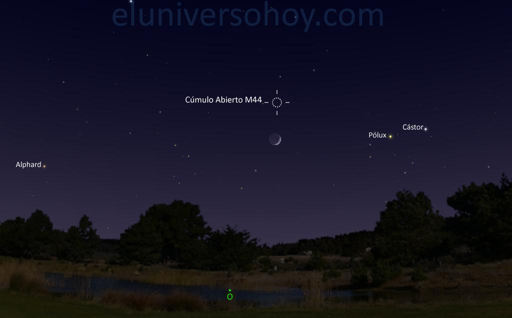 Esta noche se podr ver la conjunci n de la luna y el for Esta abierto hoy la maquinista