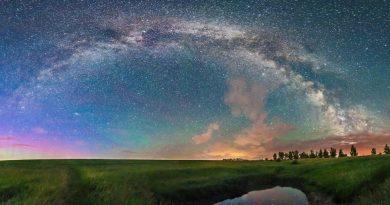 La Vía Láctea desde Alberta, Canadá