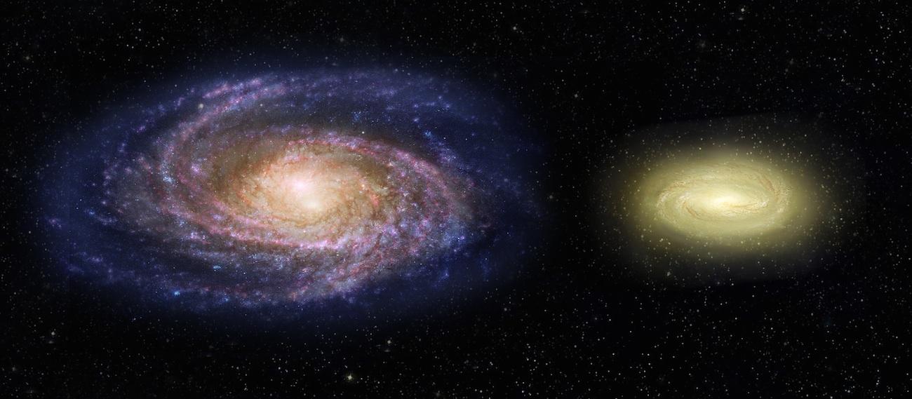 El Hubble observa una galaxia más pequeña que la Vía Láctea pero...