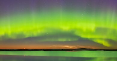 Auroras boreales desde la provincia de Alberta, Canadá
