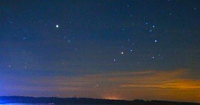 Saturno y Antares desde Smardzewice, Polonia