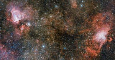 El Telescopio VST capta tres nebulosas en una sola imagen
