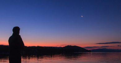 La Luna y Venus desde Armenia